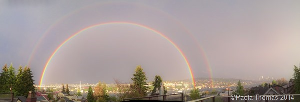 Double Rainbow Over Seattle - photography by www.paolathomas.com