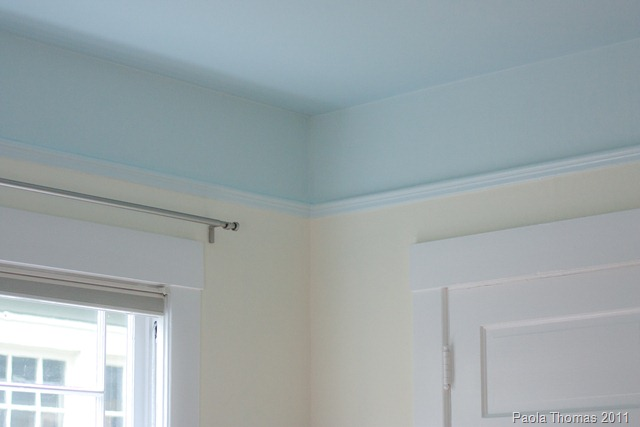 Kitchen Ceiling Painted Blue And White