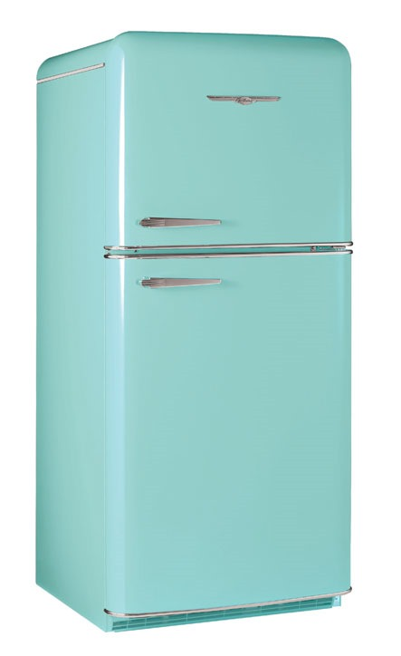 The big kitchen remodel buying a retro fridge for Kitchen remodel refrigerator
