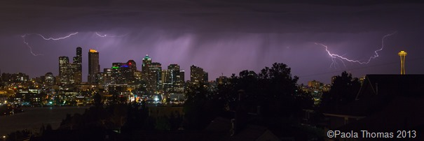 Lightning Over Seattle photography by www.paolathomas.com