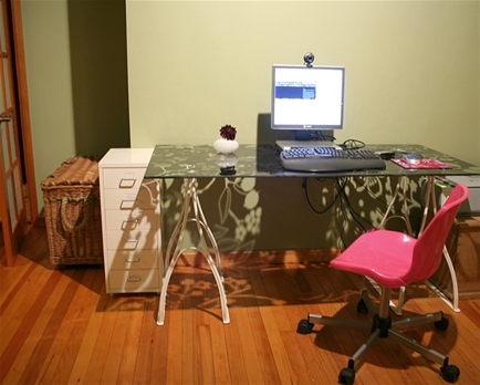 Plaque de bureau en verre bureau verre ikea source dinspiration