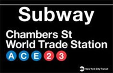 Subway-Chambers-Street--World-Trade-Station-Tin-Sign-C12340502