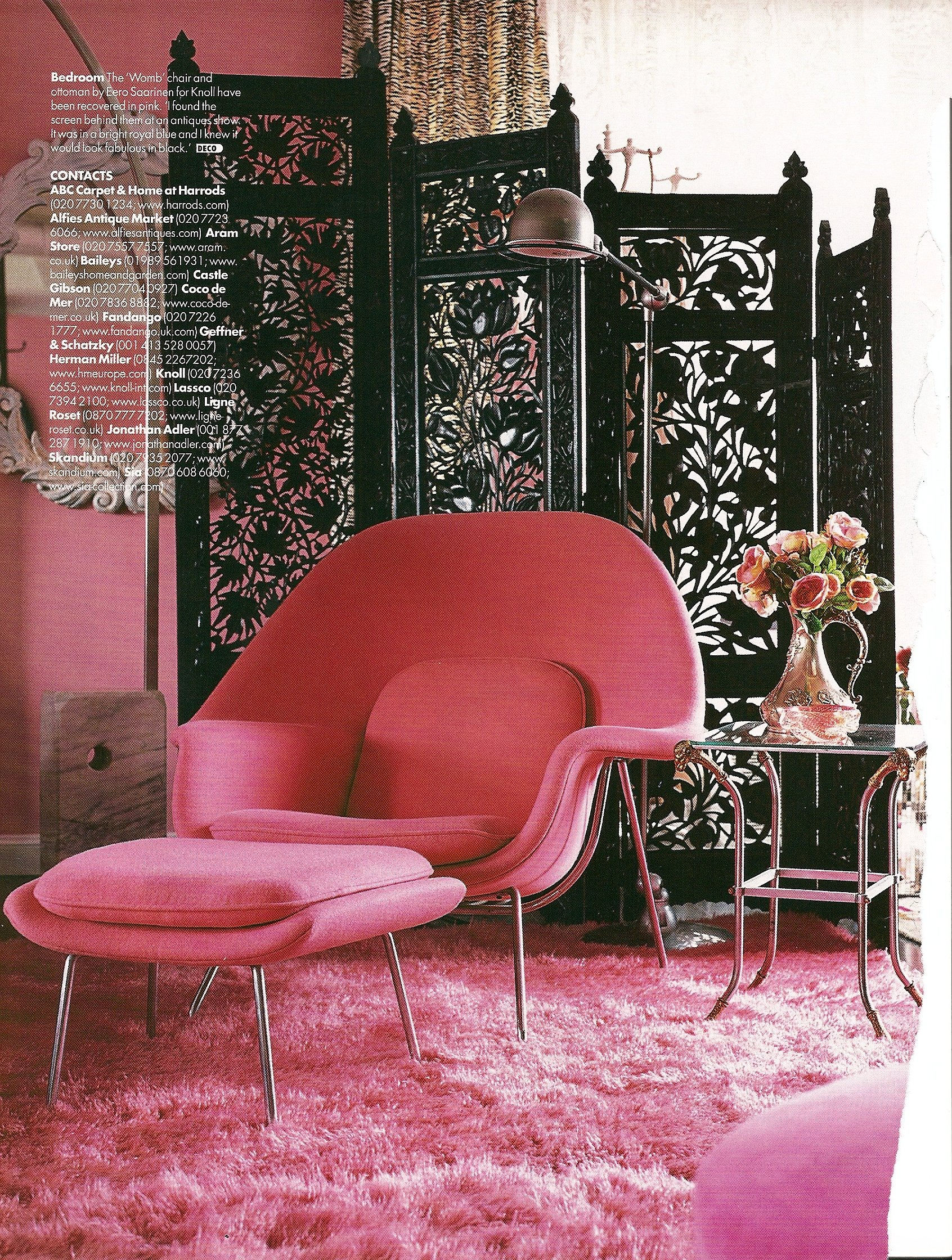 She Looks Like S Trying To Be Zany In A Zandra Rhodes Ish Sort Of Way And More Is Definitely Her Byword When It Comes Home Furnishings